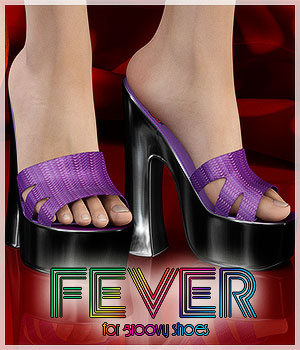 Fever For Groovy Shoes (G2F) 3D Figure Assets Belladzines