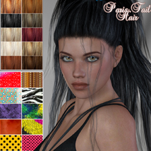 Paris Tail Hair for V4 and G2 image 2