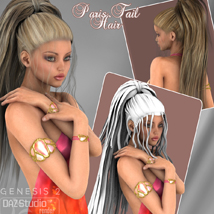 Paris Tail Hair for V4 and G2 image 3