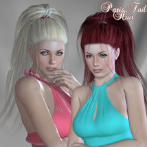 Paris Tail Hair for V4 and G2 image 5