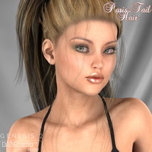 Paris Tail Hair for V4 and G2 image 6