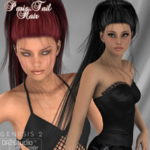 Paris Tail Hair for V4 and G2 image 7