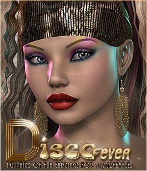 SVLF Disco Fever Earrings V4/G2F 3D Figure Assets Sveva