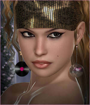 Dazzle for Disco Fever Earrings 3D Figure Essentials -Wolfie-