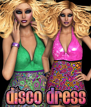 SWD_3DS Disco Dress 3D Figure Assets 3DSublimeProductions