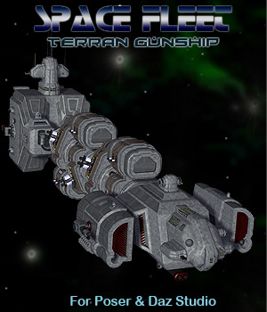 Space Ship Terran Gunship 3D Models Simon-3D