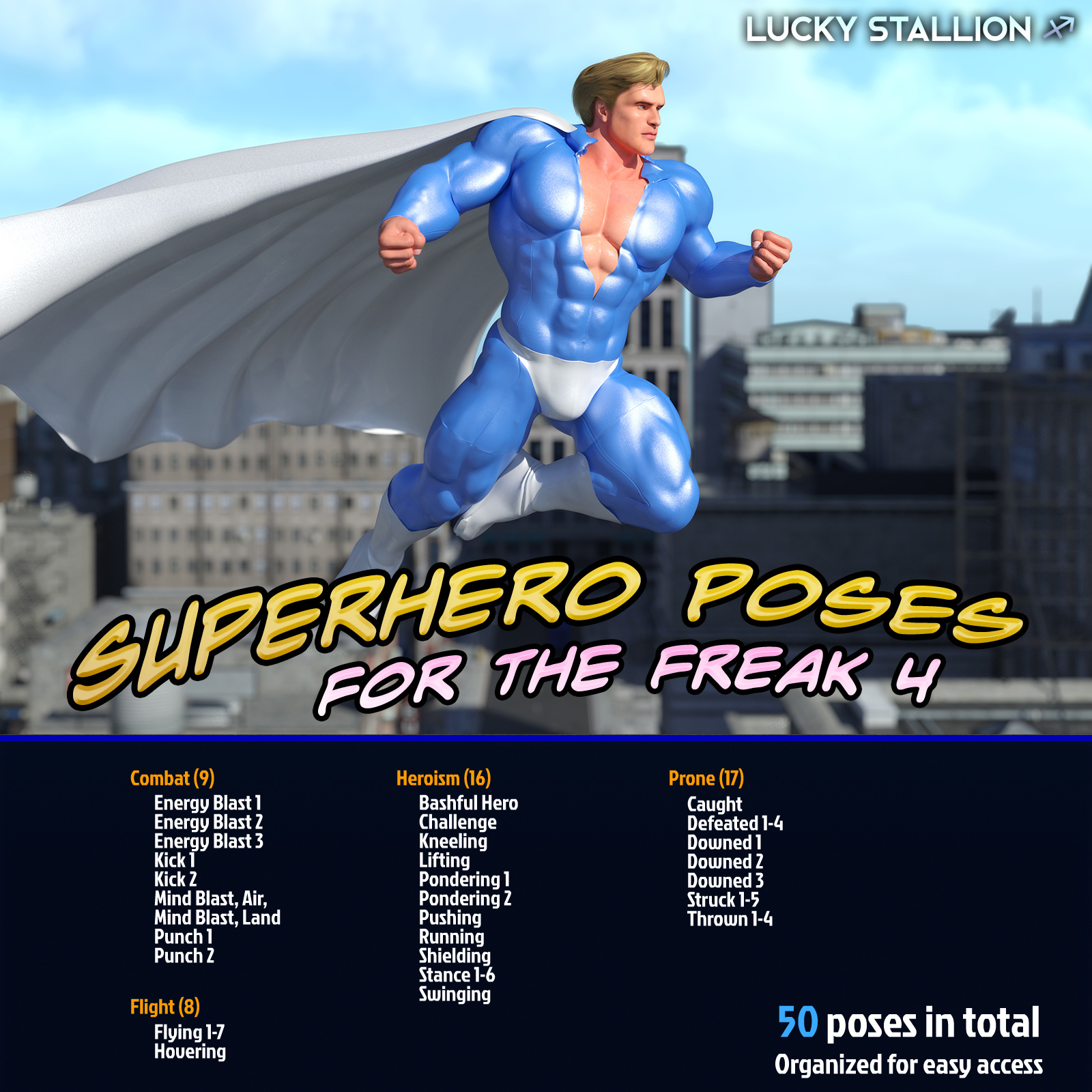 Superhero Poses for F4 by LuckyStallion