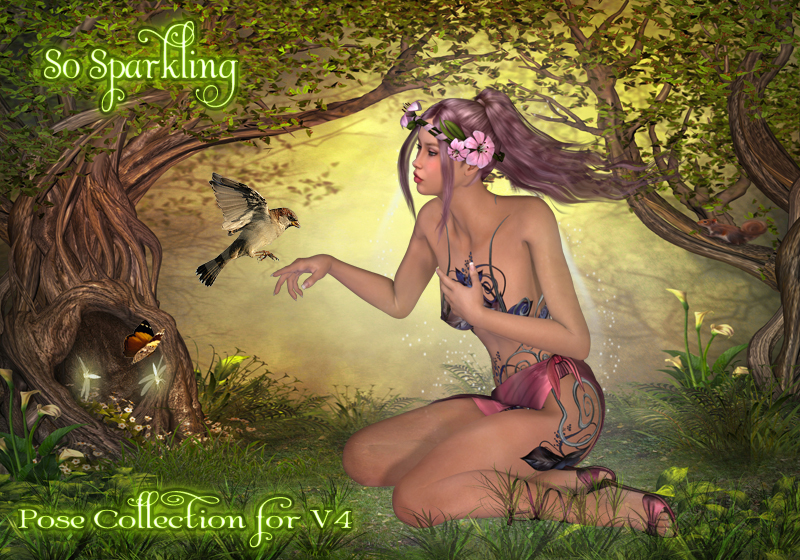 So Sparkling Pose Collection for V4