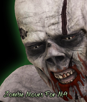 Zombie Moves For M4 3D Figure Assets fictionalbookshelf