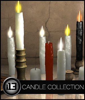 i13 Candle Collection 3D Models Software ironman13