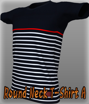 Round Neck T-Shirt 3D Figure Essentials kang1hyun