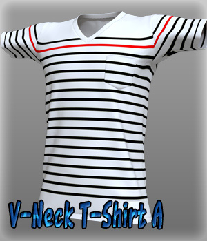 V-Neck T-Shirt A 3D Figure Essentials kang1hyun
