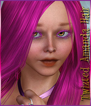 Twizted Amanda Hair 3D Figure Essentials TwiztedMetal