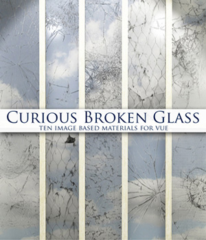 Curious Broken Glass for Vue 2D Software curious3d
