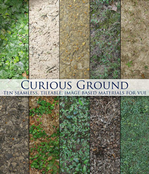 Curious Ground for Vue 2D Graphics curious3d