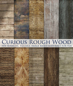 Curious Rough Wood for Vue 2D Software curious3d
