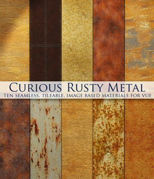 Curious Rusty Metal for Vue 2D Software curious3d