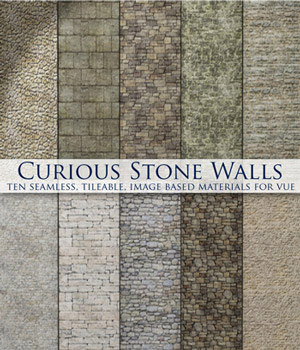 Curious Stone Walls for Vue 2D Software curious3d
