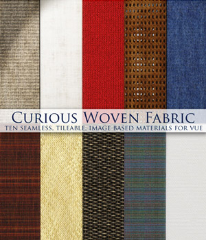 Curious Woven Fabric and Wicker for Vue 2D Software curious3d