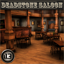 i13 Deadstone Saloon - Extended License Gaming 3D Models ironman13