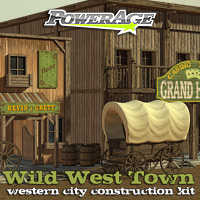 Wild West Town - Extended License 3D Models Gaming powerage