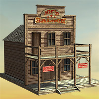 Wild West Town - Extended License image 1