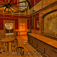 Old West Saloon - Extended License Gaming 3D Figure Essentials LukeA