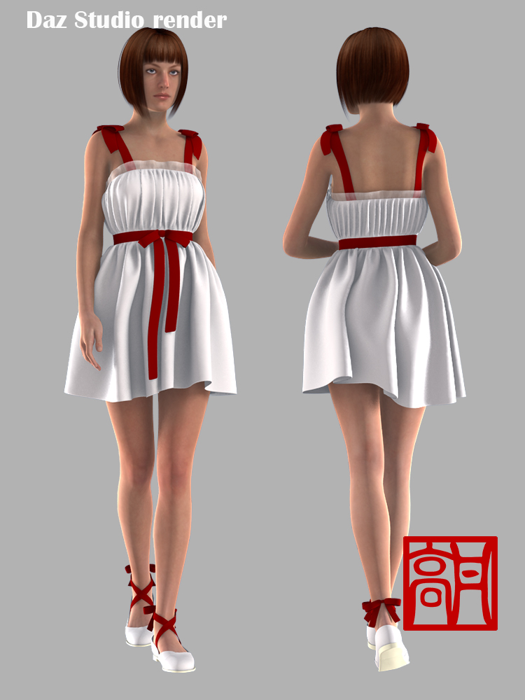 Ribbon Bow Dress by gaodan