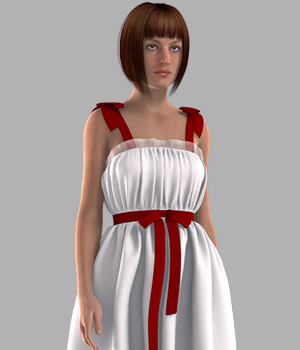 Ribbon Bow Dress 3D Figure Essentials gaodan