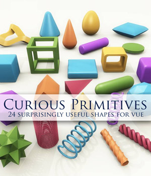 Curious Primitives for Vue 3D Models Software curious3d