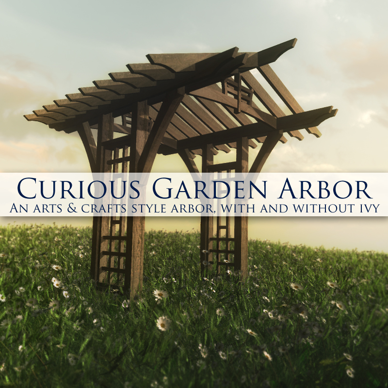 Curious Garden Arbor for Vue