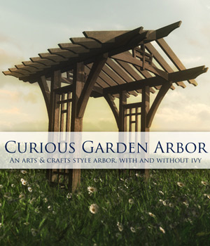 Curious Garden Arbor for Vue 3D Models curious3d