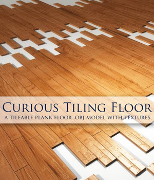 Curious Tiling Plank Floor (obj) by curious3d
