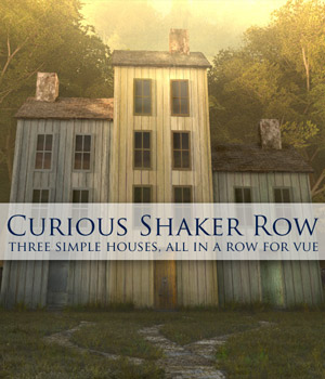 Curious Shaker Row Houses for Vue 3D Models Software curious3d