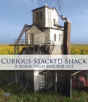 Curious Stacked Shack for Vue 3D Models Software curious3d