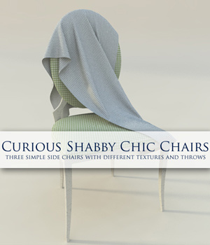 Curious Shabby Chic Chair for Vue 3D Models Software curious3d