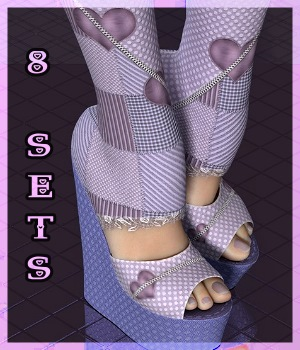AM: Color-Me -8 Sets for Shredded Wedge Boots 3D Figure Essentials Angelmoon