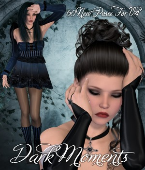 Dark Moments Poses for V4 3D Figure Essentials vanda51