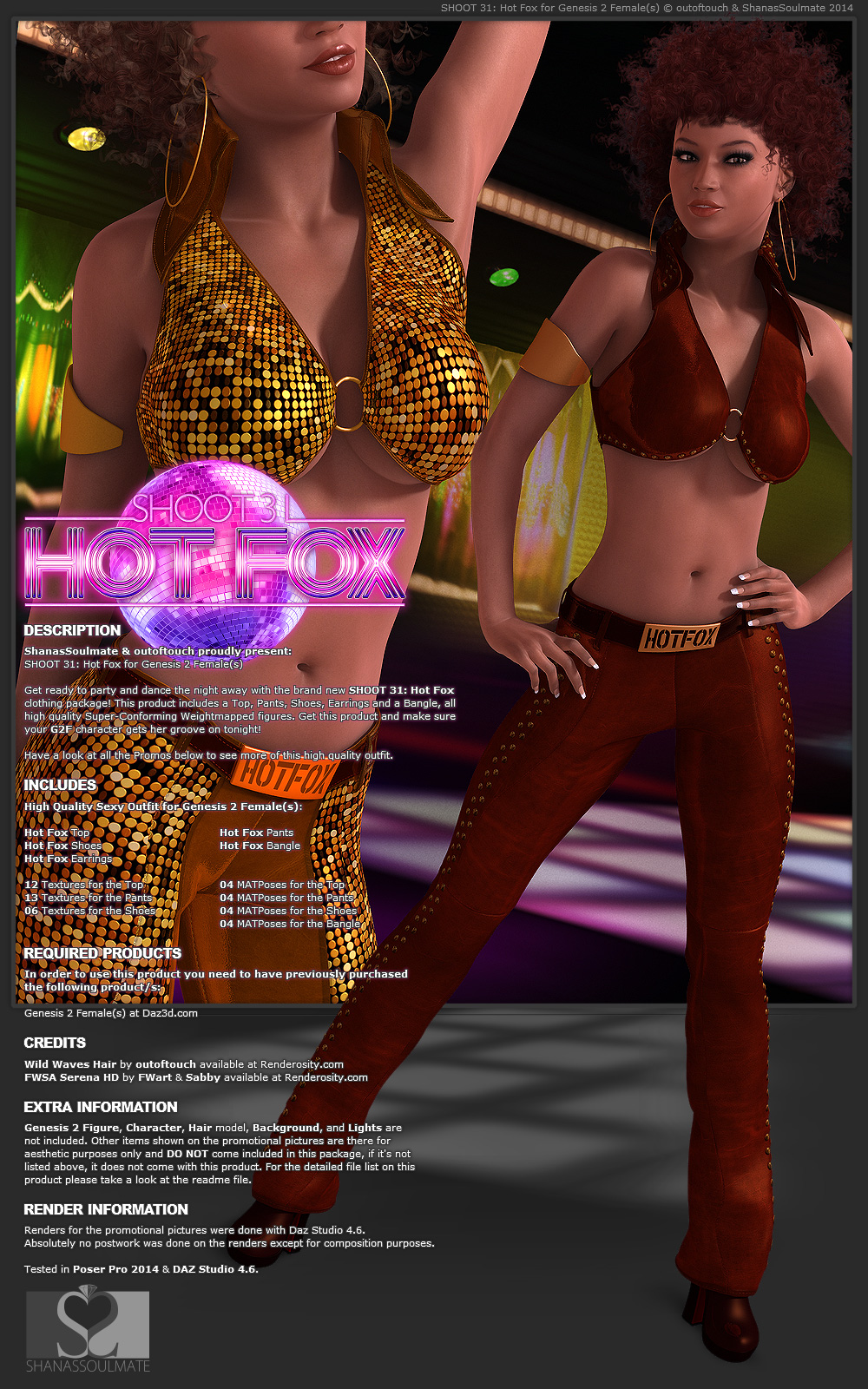 SHOOT 31: Hot Fox for Genesis 2 Female(s)