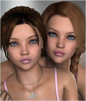 P3D Sarah and Serena 3D Figure Essentials P3Design