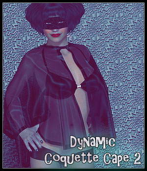 Dynamic Coquette Cape 2 3D Figure Essentials SynfulMindz