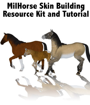 MilHorse 1 Skin Texture Resource Kit 2D Merchant Resources Lyrra