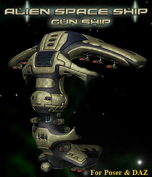 Alien GunShip 3D Models Simon-3D