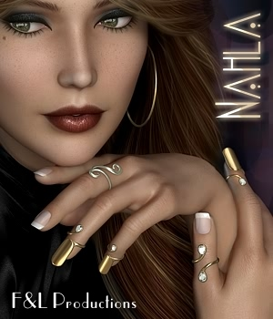 Nahla Rings 3D Figure Essentials fabiana