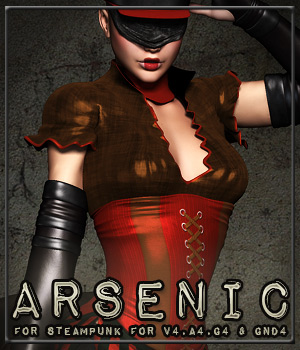 ARSENIC for Steampunk for V4,A4,G4 & GND4 3D Figure Essentials Anagord