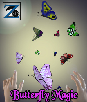 Z Butterfly Magic 3D Models 3D Figure Essentials Zeddicuss