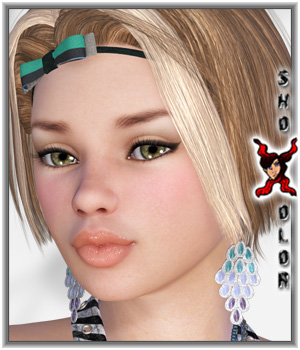 ShoXoloR for Emesta Hair 3D Figure Assets ShoxDesign