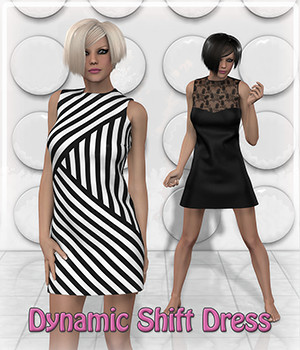 Dynamic Shift Dress 3D Figure Assets Frequency