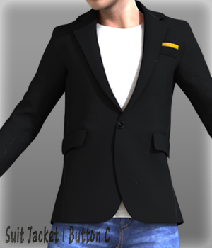 Suit Jacket 1 Button C 3D Figure Essentials kang1hyun