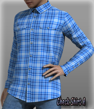 Check Shirt A 3D Figure Essentials kang1hyun